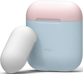 Чохол для Apple AirPods (air pods) Elago Duo Case Pastel Blue Pink White