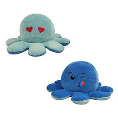 Мягкая игрушка осьминожка перевёртыш двухсторонний большой голубой-синий
