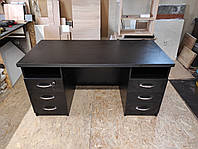 Стол офисный 150 см чёрный с шухлядами