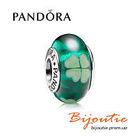Pandora шарм ЗЕЛЕНЫЙ КЛЕВЕР 790927 серебро 925 Пандора оригинал