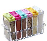 Набор контейнеров для специй Seasoning sixpiece set на подставке, Набор емкости для хранения специй спецовники, фото 2
