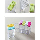 Набор контейнеров для специй Seasoning sixpiece set на подставке, Набор емкости для хранения специй спецовники, фото 3