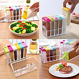 Набор контейнеров для специй Seasoning sixpiece set на подставке, Набор емкости для хранения специй спецовники, фото 4