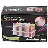 Набор контейнеров для специй Seasoning sixpiece set на подставке, Набор емкости для хранения специй спецовники, фото 5