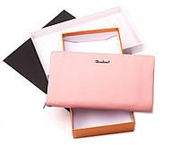 Женский розовый кошелек Cardinal большой клатч из натуральной кожи портмоне, фото 5