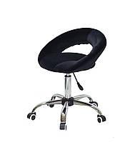Кресло офисное на колесах Holy CH-OFFICE бархат, черный B-1011