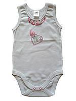 Боді-майка для дівчинки Garden baby 19411-88 білий 68-80