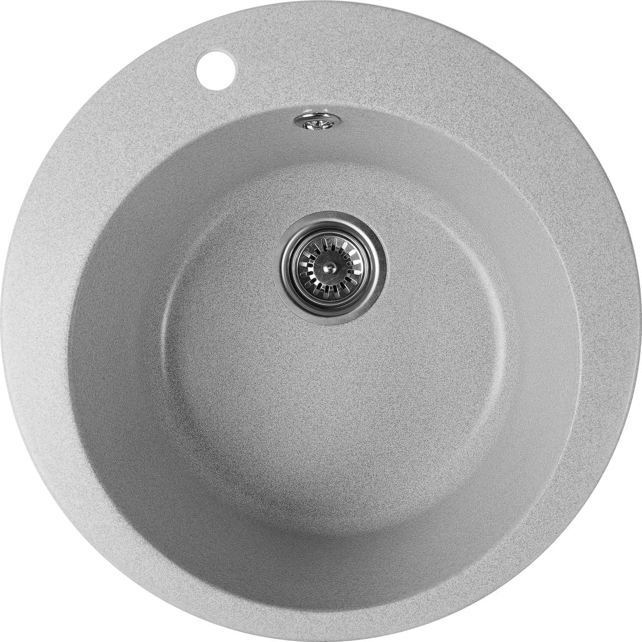 Гранитная кухонная раковина Valetti Premium модель №7 серая 500