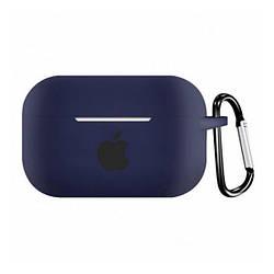 Чохол для AirPods PRO SLIM Case (+ Карабін) Box Minight blue