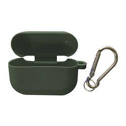 Чохол для AirPods PRO SLIM Case (+ Карабін) Box Midnight green