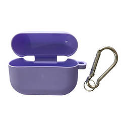 Чохол для AirPods PRO SLIM Case (+ Карабін) Box Light purple