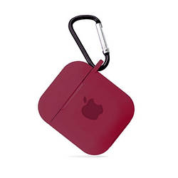 Чохол для AirPods SILICONE CASE Rose red