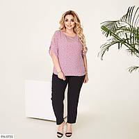 Блуза женская нарядная в деловом стиле р-ры 50,52,54,56,58