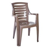 Кресло пластиковое «Рекс», капучино