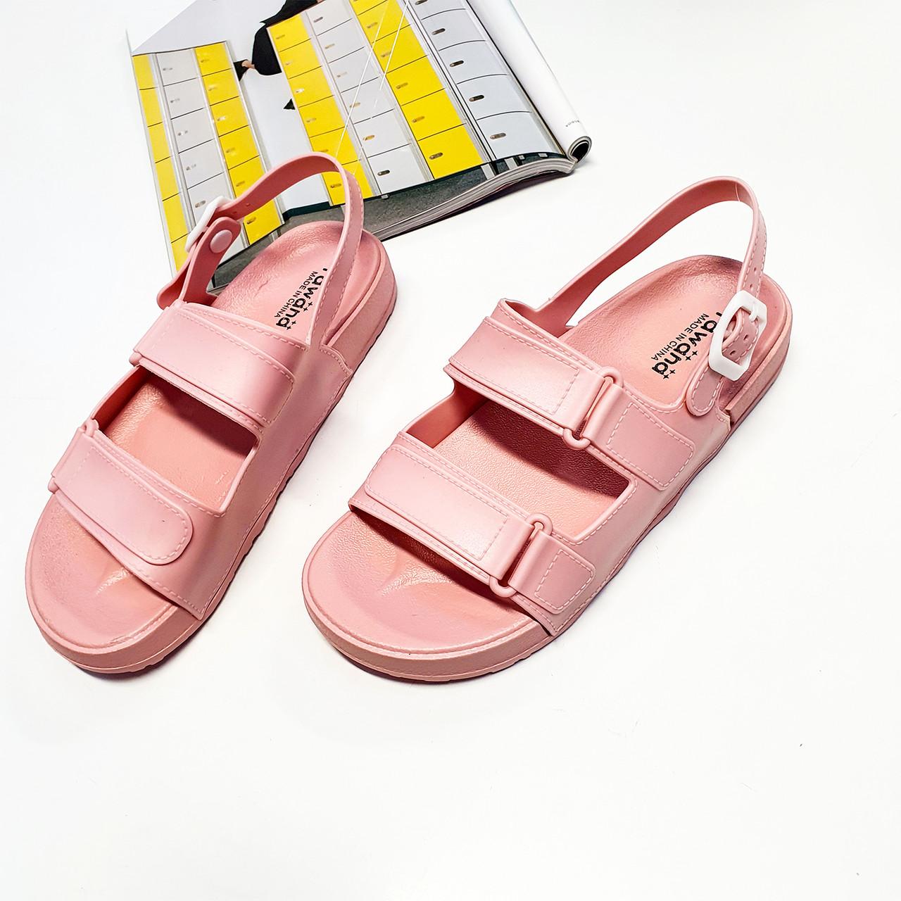 Женские сандали резиновые модные розовые Fashion L-1