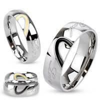 Кольцо из нержавеющей стали c гравировкой настоящая любовь, 316L Spikes (США)