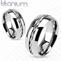 Женское кольцо Spikes из титана спираль (США)