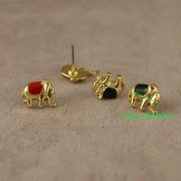 Стальные серьги гвоздики для женщин, золотое покрытие