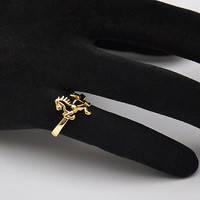 Женское кольцо из нержавеющей стали с лошадкой