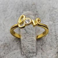Кольцо женское с золотым покрытием, вставка хрусталь