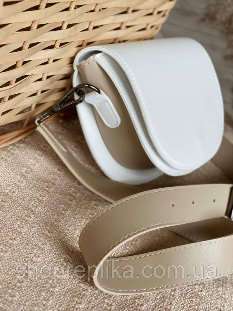 Біла сумка жіноча сумка з широким ремінцем кроссбоди через плече модні сумки 2021