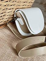 Біла сумка жіноча сумка з широким ремінцем кроссбоди через плече модні сумки 2021, фото 1