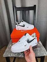 Женская обувь белая Nike Air Force 1 '07 LV8 Ultra White Black. Кроссы Найк Аир Форс 1 07 Вайт для девушек