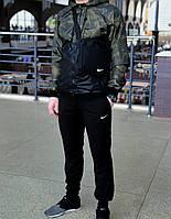 Костюм мужской спортивный куртка с штанами из плащевки, весна-осень, камуфляж