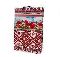 Пакет подарунковий маки , орнамент
