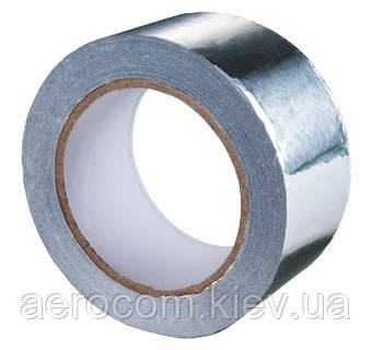 Скотч алюминиевый 100мм, 50м, толщина 35мкм