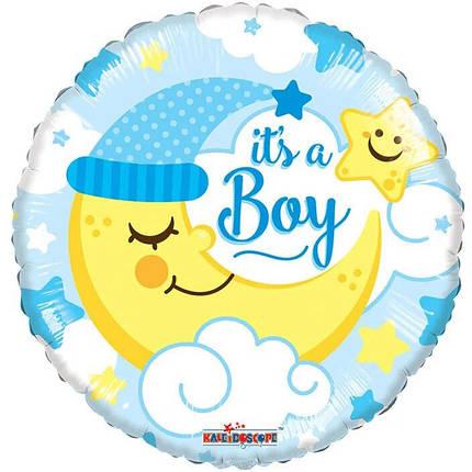 """Круг 18"""" КИТАЙ-КТ It's a Boy - месяц на голубом, фото 2"""