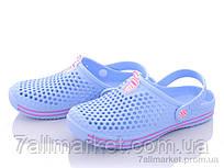 """Крокси жіночі літні Літо 106 блакитний (8 пар р. 36-41) """"Slippers"""" недорого оптом від прямого постачальника"""