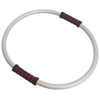 Кольцо для пилатеса разъемное Zelart Yoga Ring R-880 диаметр 55 см Silver