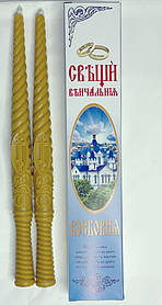 Вінчальна свічка віск 35см (2шт.в уп) А