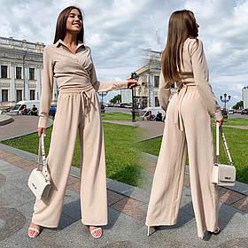 Летний женский прогулочный костюм 46-476