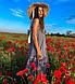 Летнее женское платье-трапеция в полоску без рукавов, фото 5
