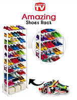 Поличка для зберігання взуття AMAZING SHOE RACK White Органайзер для обуви