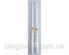 Вінчальна свічка декор 40см. (1шт)