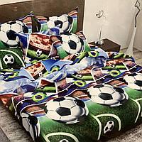 """""""футбол"""" Полуторний комплект постільної білизни 150/220 з дитячим малюнком, дві нав-ки 70/70,тканина бязь"""