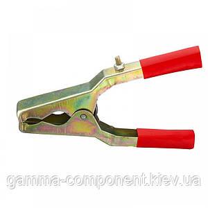 Зажим аккумуляторный (крокодил) WD021, красный