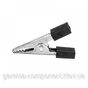 Зажим аккумуляторный (крокодил) WD028A,   L:33, черный