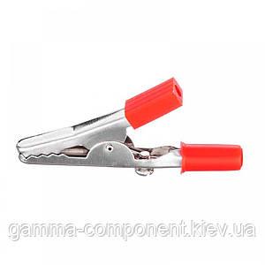 Зажим аккумуляторный (крокодил) WD029, L:55, красный