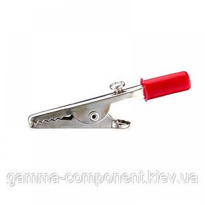 Зажим аккумуляторный (крокодил) WD031,  красный
