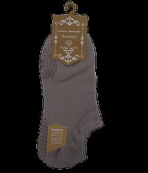 Шкарпетки короткі з силіконом 201 37-42 сірі