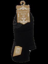 Шкарпетки короткі з силіконом 201 37-42 чорні