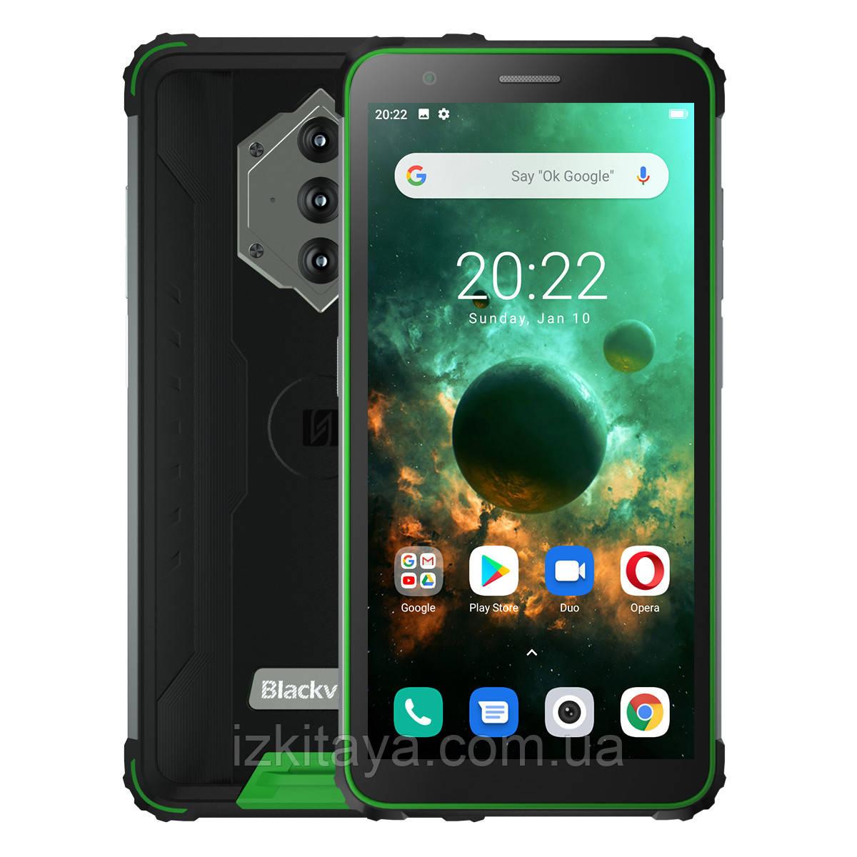 Смартфон Blackview BV6600 green мощный аккумулятор 8580 mAh + Свит ТВ 3 месяца бесплатно
