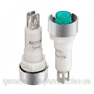 Світлодіодний індикатор NHC-10, 220V, зелений