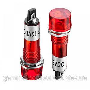 Світлодіодний індикатор XD10-3, 12V, червоний (od=10mm)