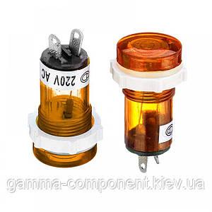 Світлодіодний індикатор XD15-1, 220V, жовтий