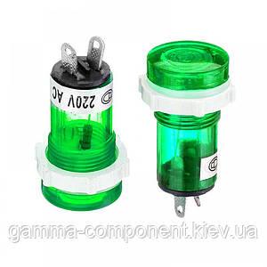 Світлодіодний індикатор XD15-1, 220V, зелений